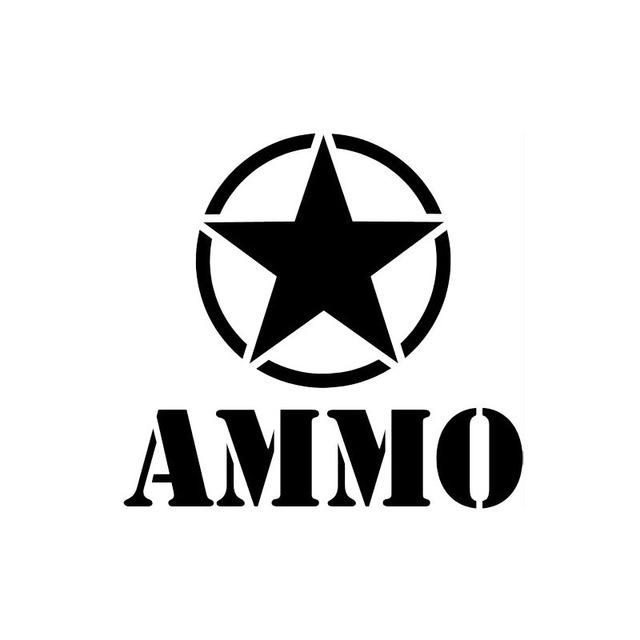 640x640 15cm14cm Car Styling Ammo Star Car Stickers Decals Fashion