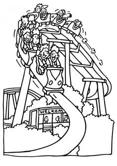236x334 Amusement Park Coloring Pages Coloring And Coloring Vbs