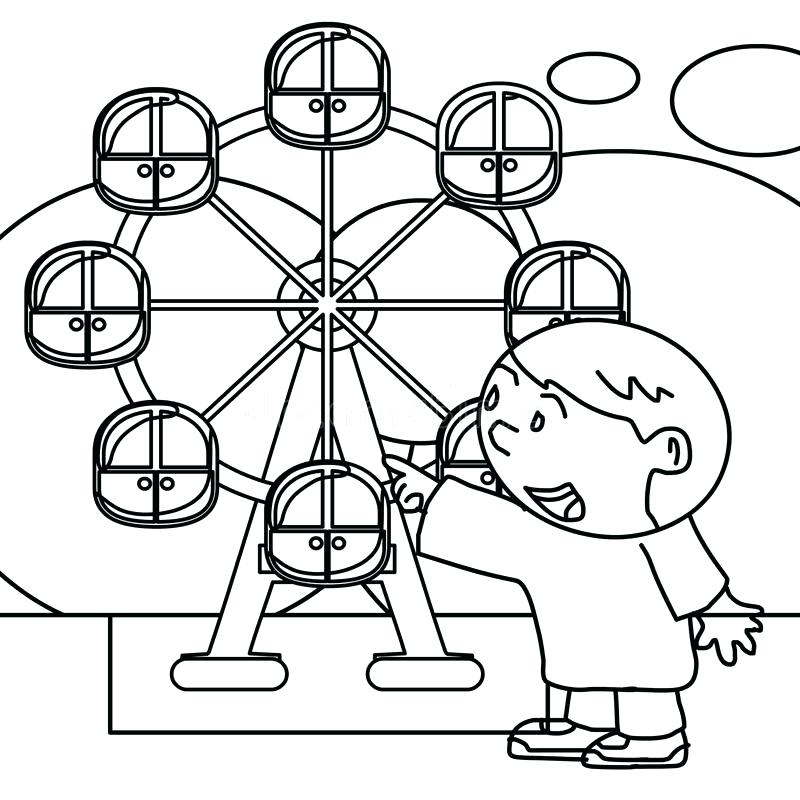 800x800 Amusement Park Coloring Pages Download Kid Coloring Page Stock