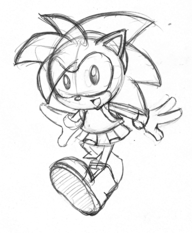 Amy Rose Drawing at GetDrawings.com | Free for personal use Amy Rose ...