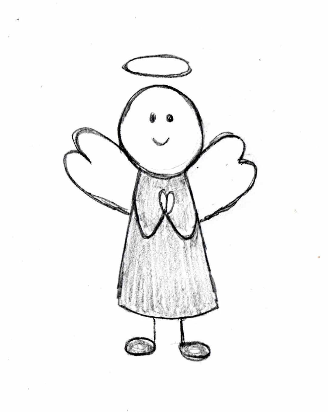 1079x1356 How To Draw An Angel, Step By Step