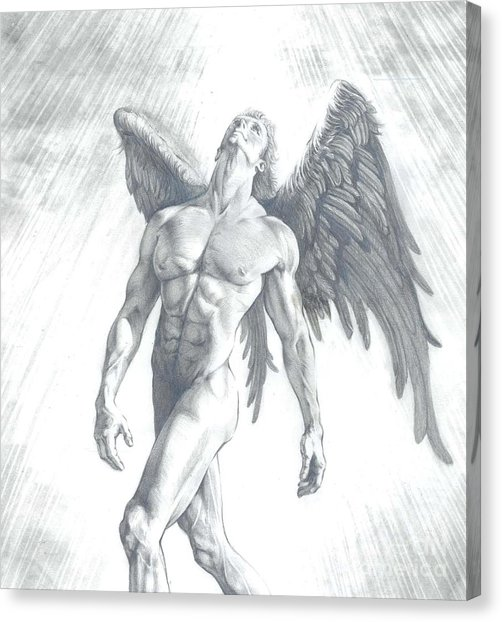 502x622 The Calling Of An Angel Drawing By Karina Griffiths