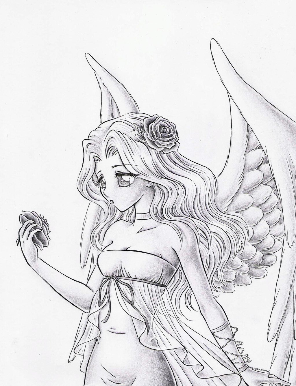 1024x1338 White Angel Sketch By Dayserosi