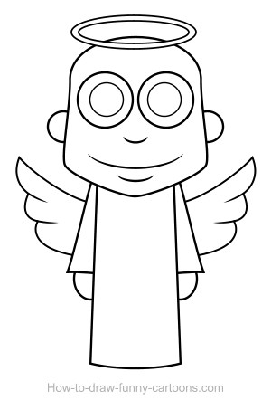 300x463 Angel Drawing (Sketching + Vector)