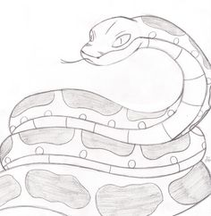 236x242 How To Draw A Snake,wild Animals, Step By Step Drawing Fakelore