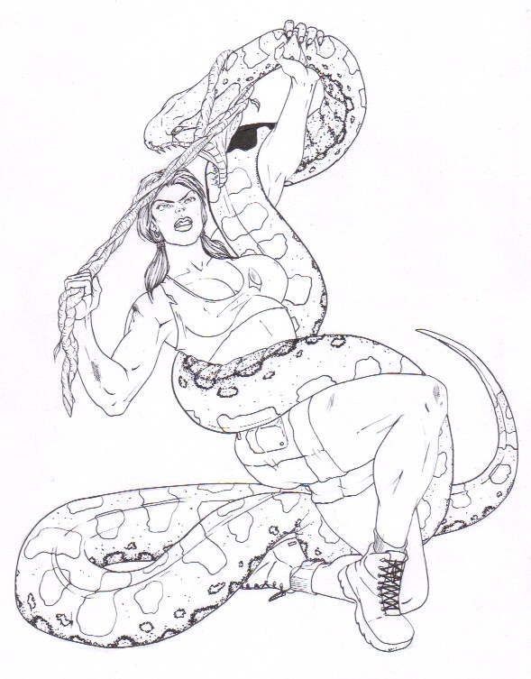 589x753 Liz Vs Anaconda (Inked) By Hercu Liz