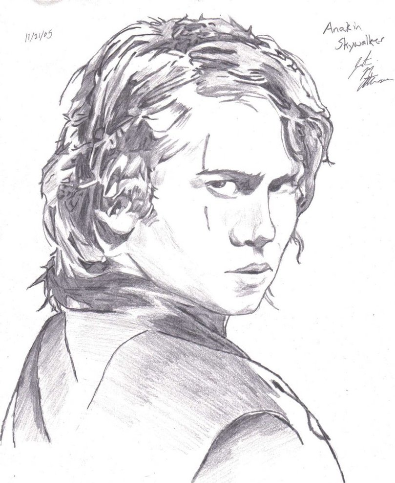 Anakin Skywalker Drawing at GetDrawings.com | Free for personal use ...