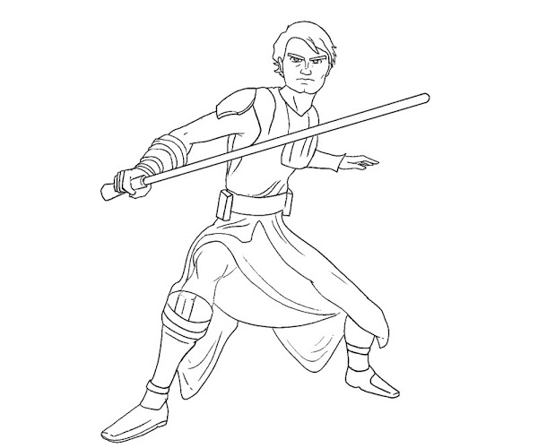 600x500 Lego Star Wars Anakin Skywalker Coloring Pages