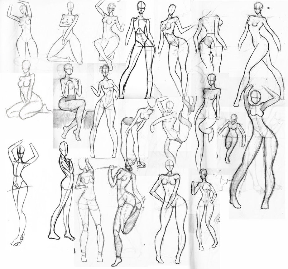 924x864 Female Anatomy Sketch
