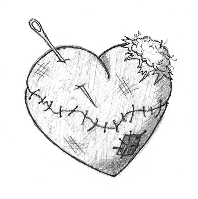 689x693 Drawn Heart Simple Art