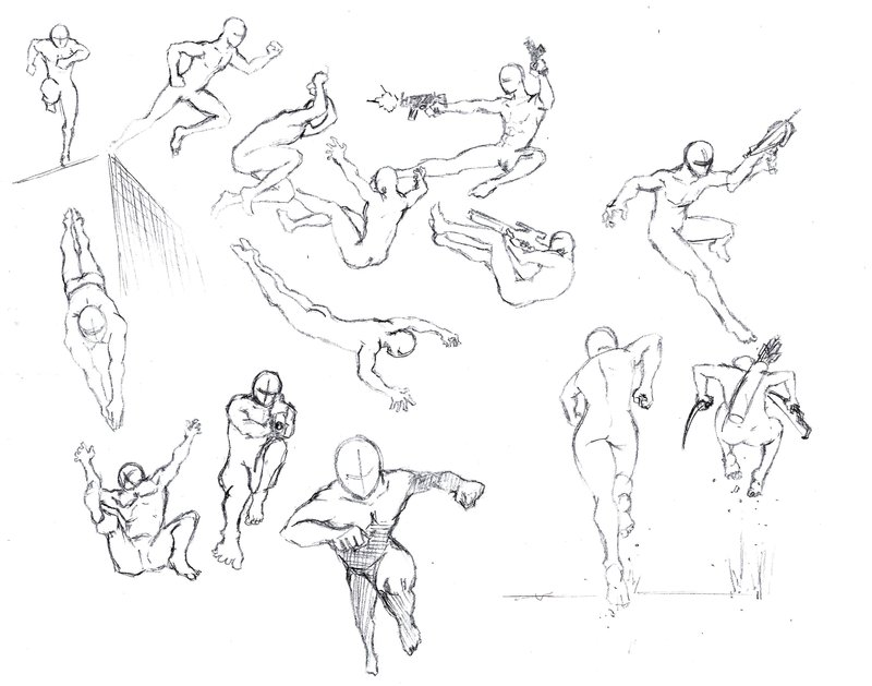 800x629 Action Poses 4 Leaping, Diving By Shinsengumi77