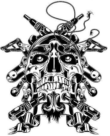 369x455 How To Draw A Skull 50 Tutorials Drawn In Black