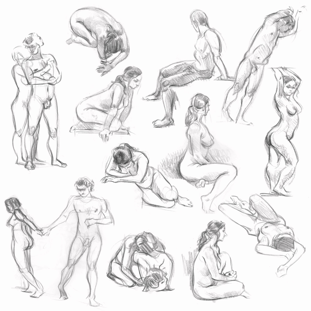 1024x1024 Human Anatomy Sketches Figure Drawing Lessons 68