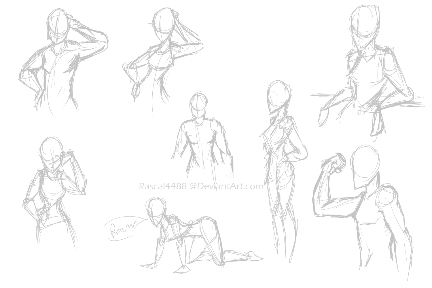 1500x1000 Human Anatomy Sketches By Rascal4488
