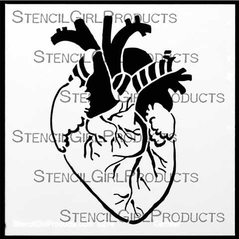 480x480 Gross Anatomy Listen To Your Heart Pam Carriker Stencilgirl