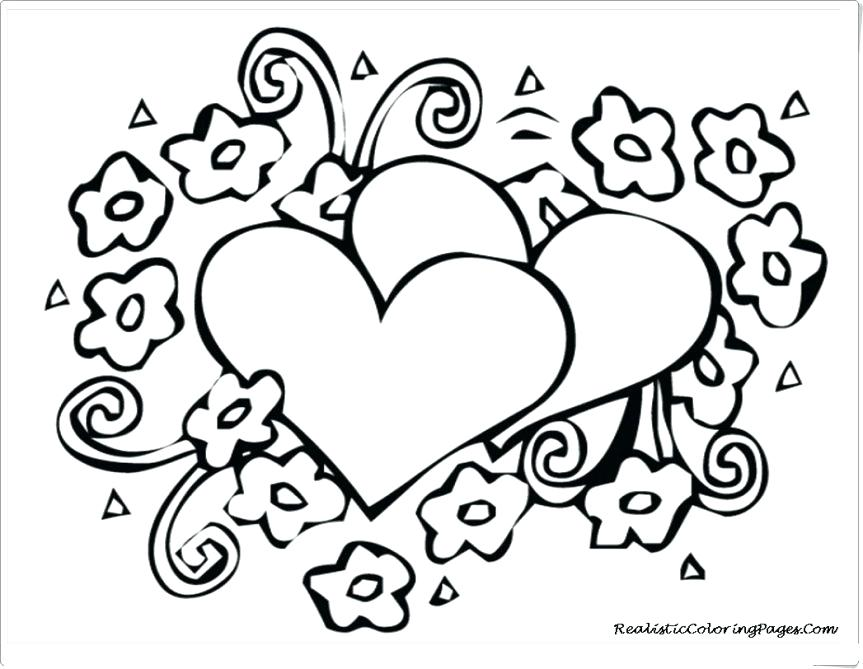 863x669 Human Heart Coloring Page Free Heart Coloring Pages 3 Human