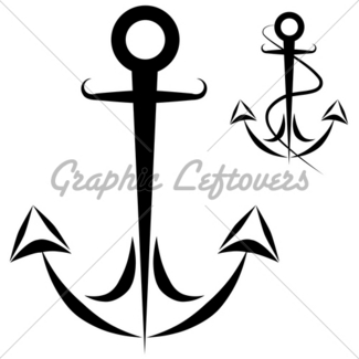 325x325 Boat Anchor Drawing Set Gl Stock Images