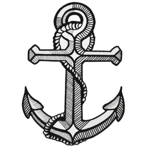 500x500 Anchor Chain Tattoo