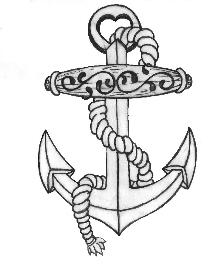 672x880 Anchor Tattoo Line Drawing By Inkjunkie88