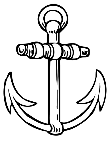 381x500 Anchor Drawing Public Domain Vectors