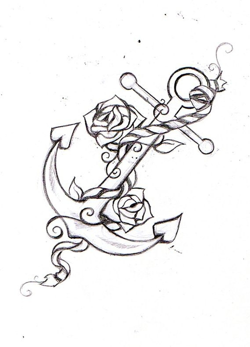 500x693 Anchor Tattoo Drawing Tattoo Anchor Tattoos