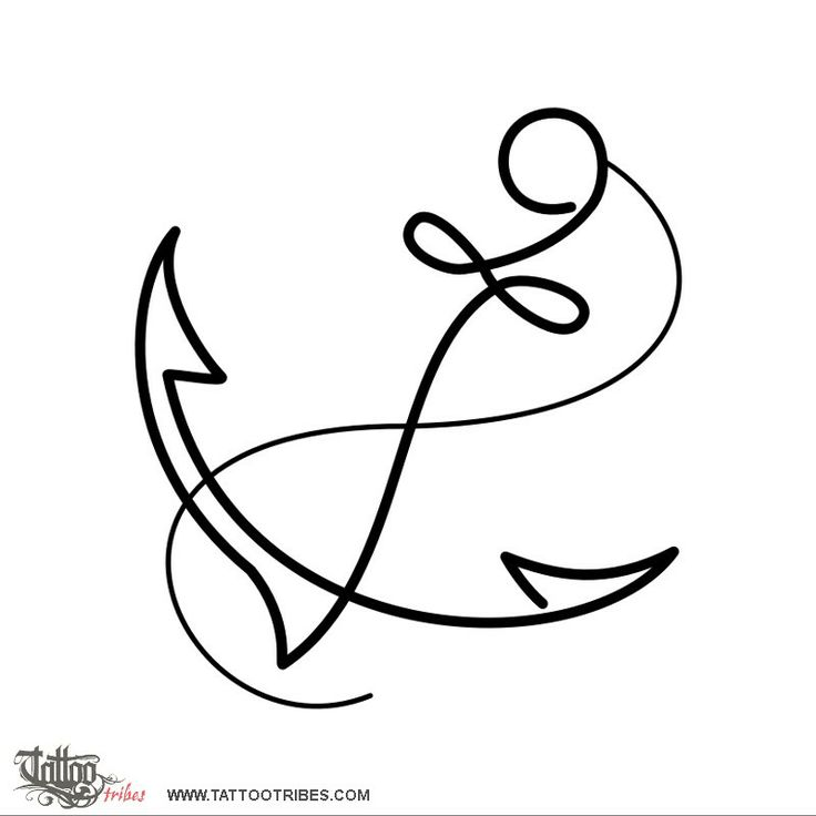 Anchor Line Drawing