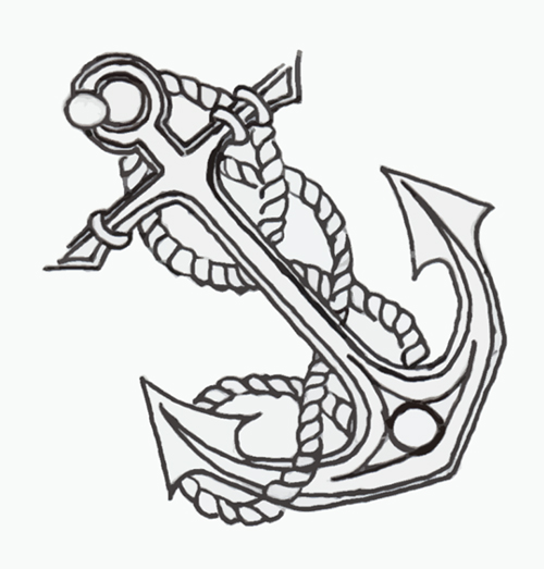 500x523 Anchor Line Drawings Images