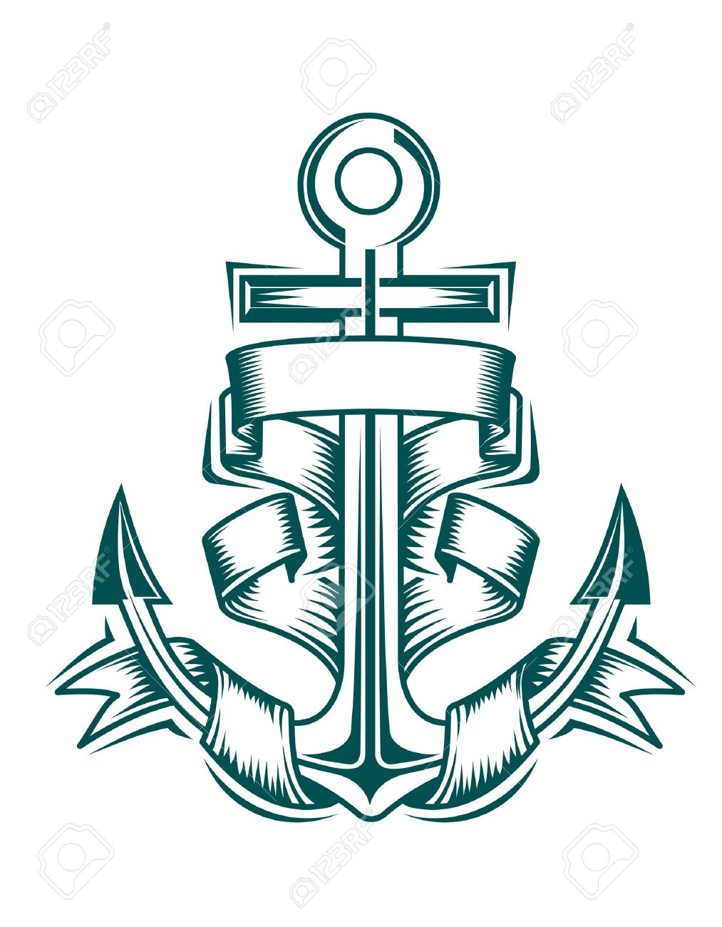 1013x1300 Drawn Ship Anchor Rope