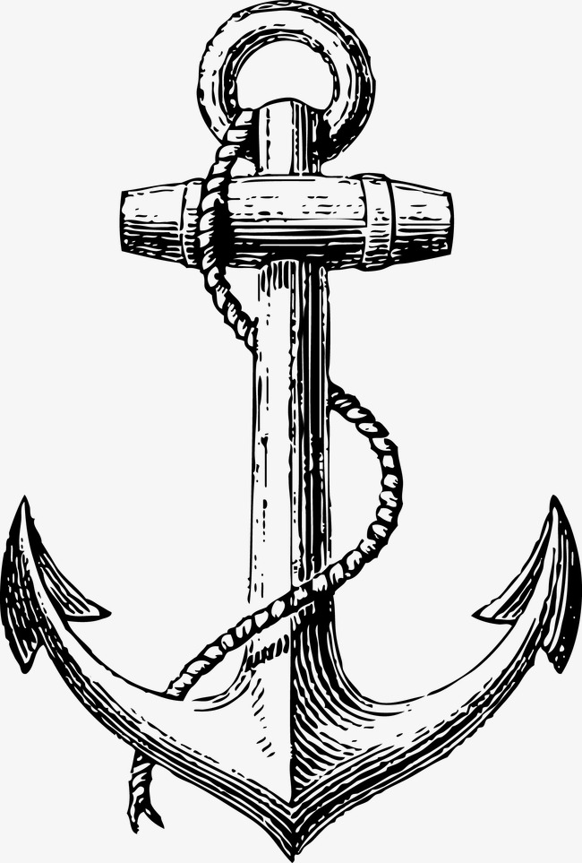650x963 Vector Painted Anchor, Vector, Hand Painted, Anchors Png