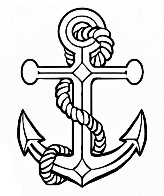 668x800 Anchor Drawings For Women Images Of A Anchor Coloring Pages