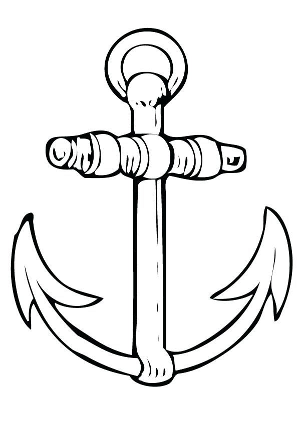 595x842 Anchor Coloring Page Anchor Drawing Picture Hope Anchor Coloring