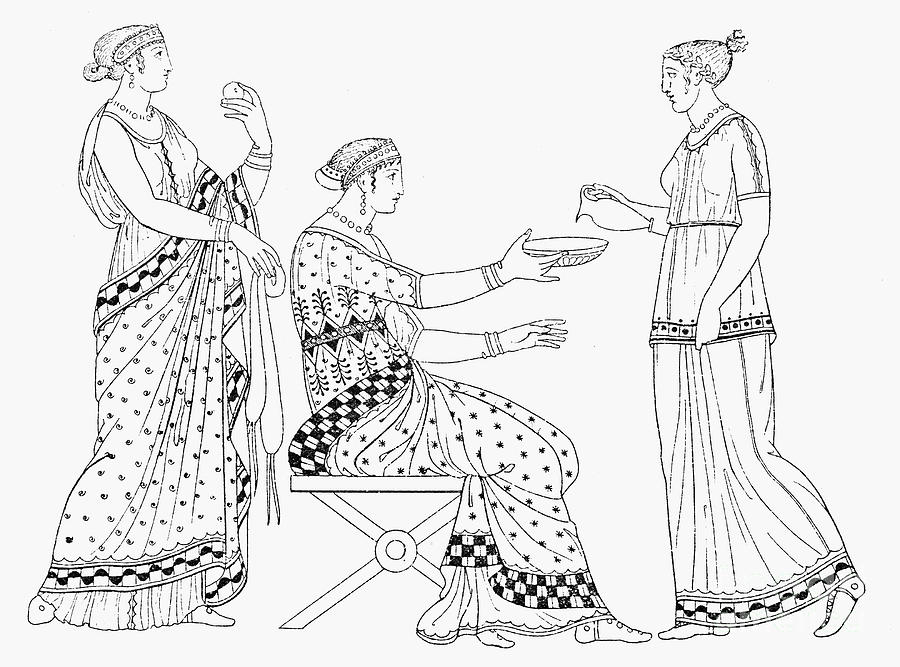 900x667 Ancient Greek Women Photograph By Granger