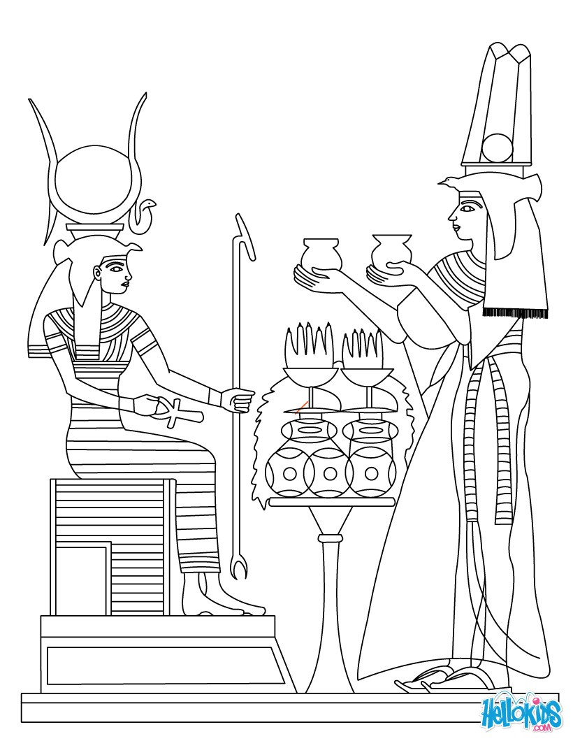 820x1060 Ancient Egypt Art Coloring Pages
