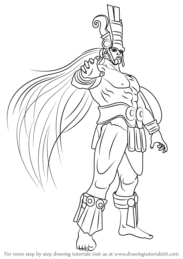 598x844 Learn How To Draw Ancient Ogre From Tekken (Tekken) Step By Step
