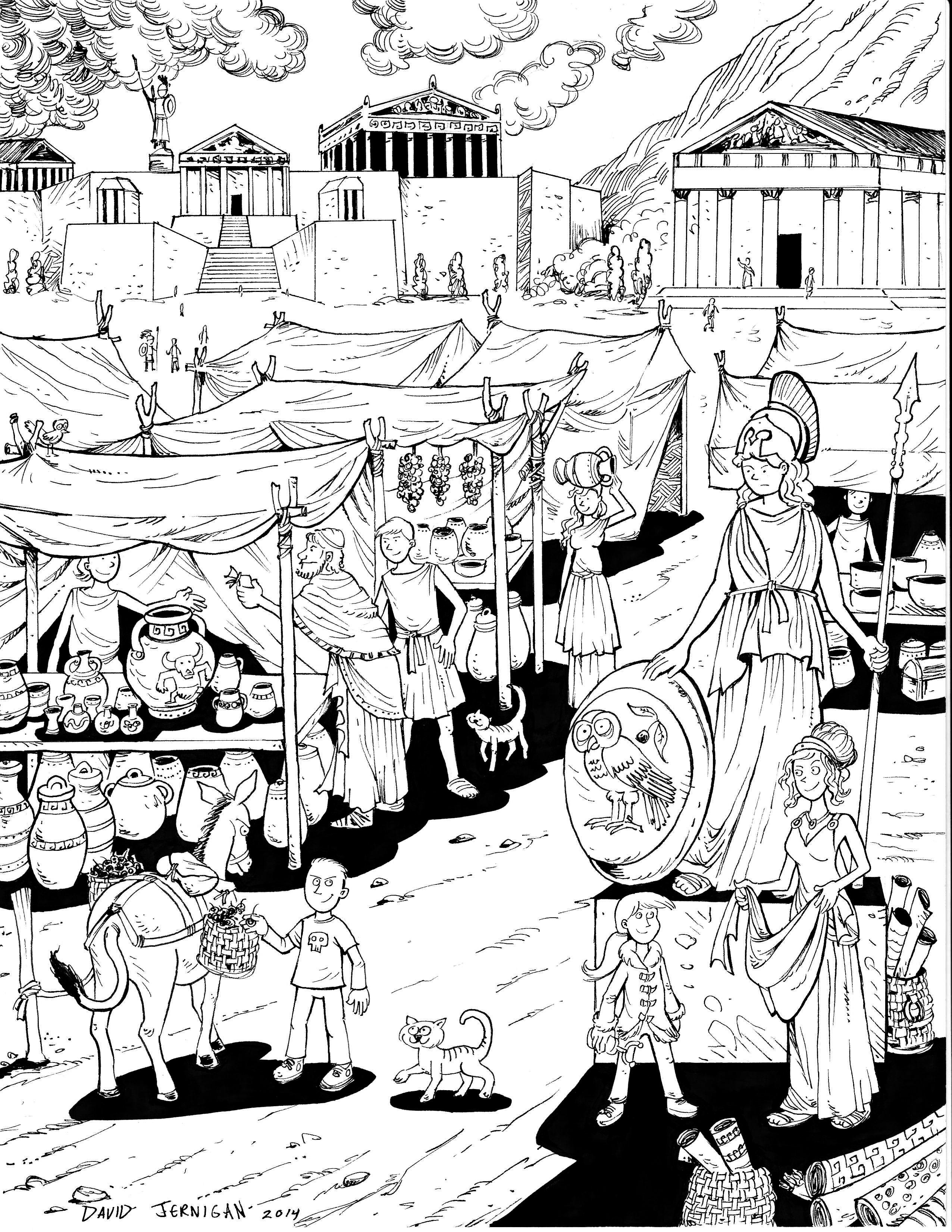 2552x3300 Ancient Greece Drawing Sketcharound