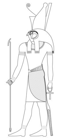210x480 Horus, Ancient Egyptian God Coloring Page Free Printable