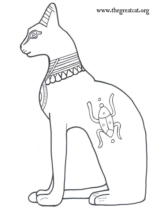 500x688 Ancient Egyptian Cats A Coloring Book For Adults And Children
