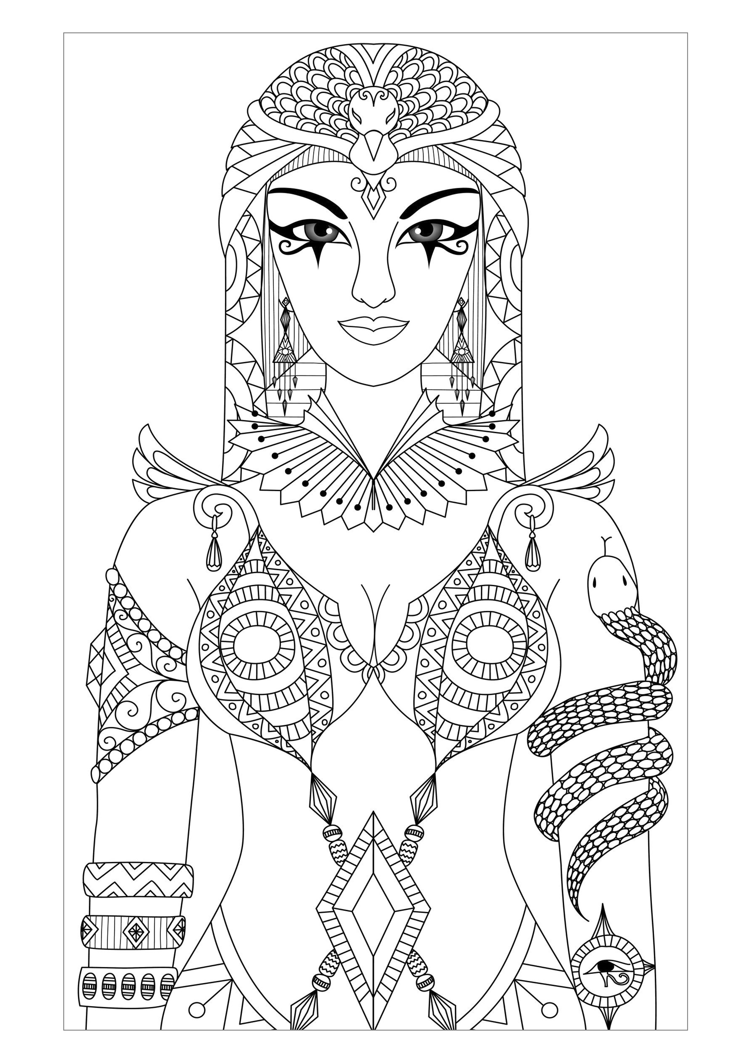 2480x3508 Adult Egyptian Coloring Pages