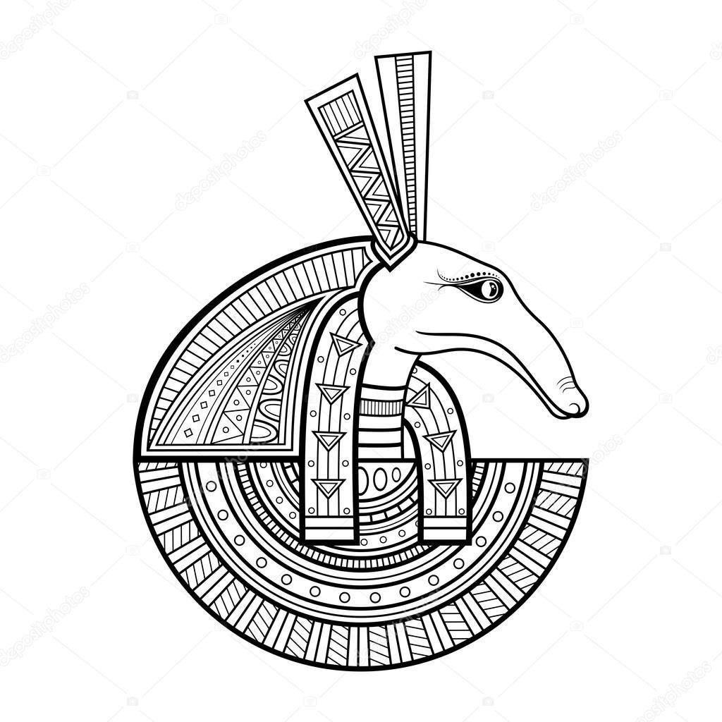 1024x1024 Vector God Of Ancient Egypt Stock Vector Helenakrivoruchko