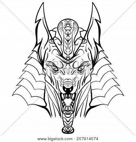 450x470 Ancient Egyptian God Anubis Head Vector Amp Photo Bigstock