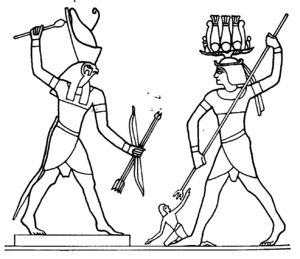 300x259 Ancient Egyptian God Horus Egy King