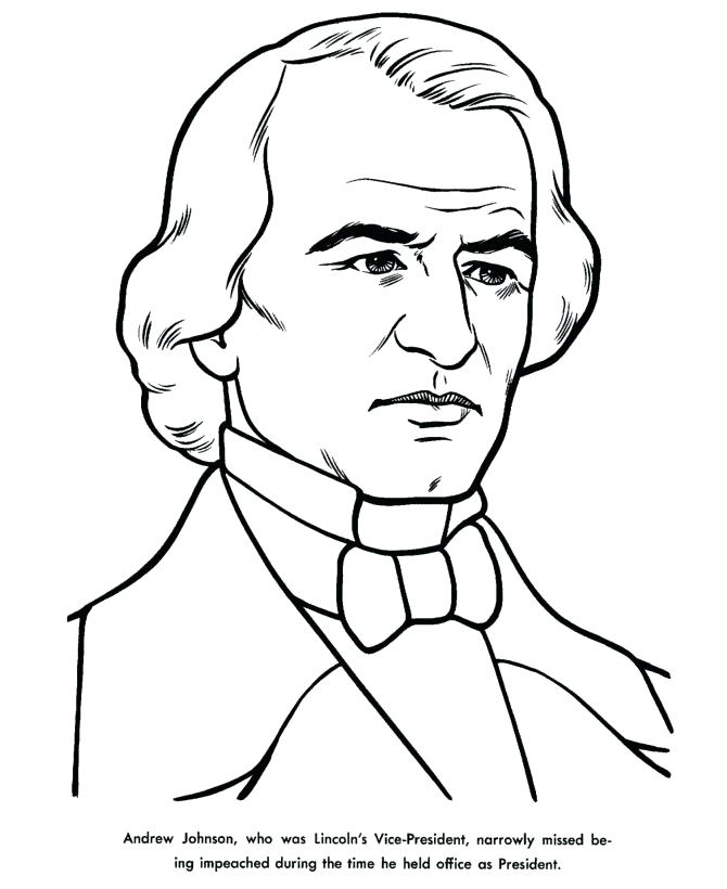 670x820 Us President Andrew Jackson Coloring Page Exodus By President