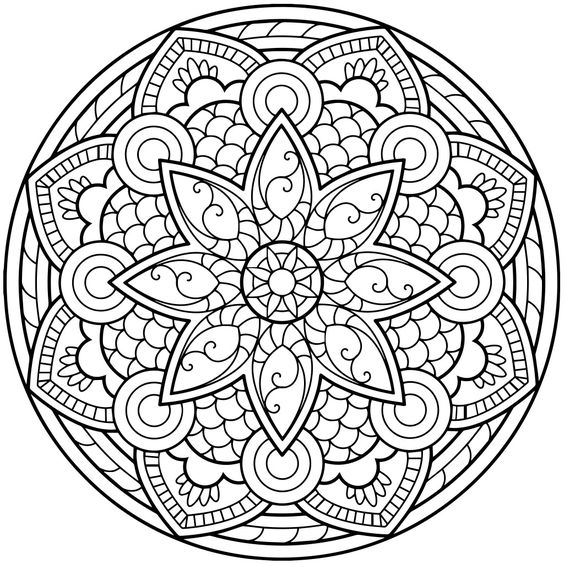 564x564 Mandala Coloring Pages For Adults For Android, Ios And Windows