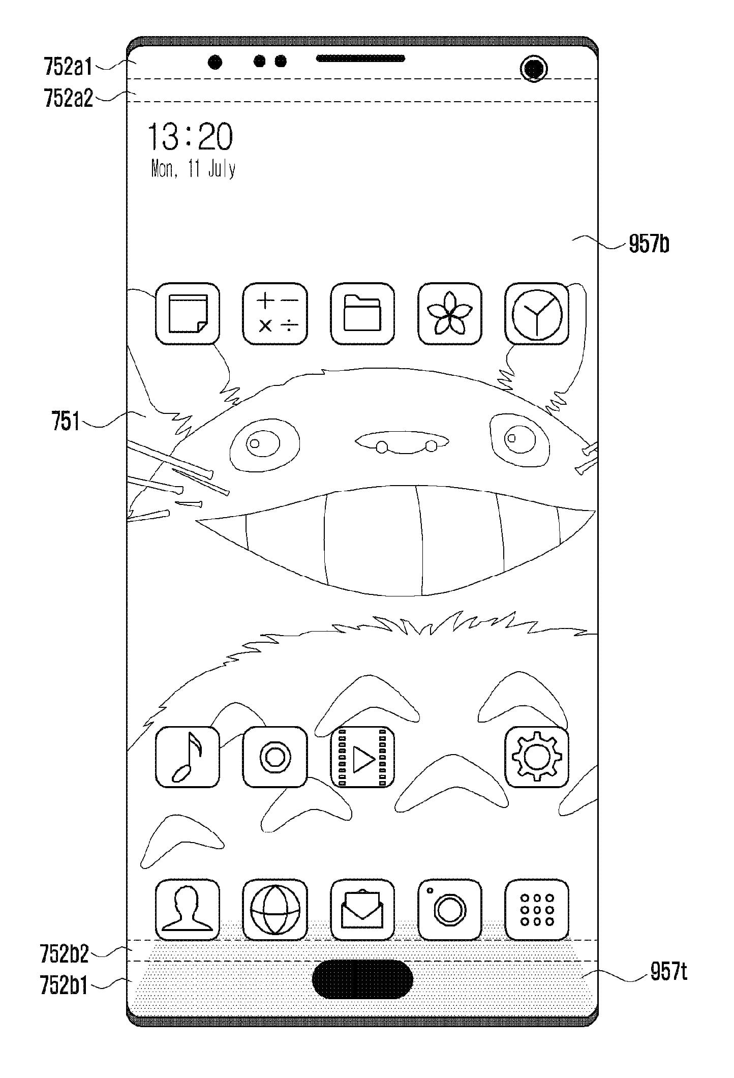 1444x2120 Samsung Patents A Borderless Phone Design With No Notch