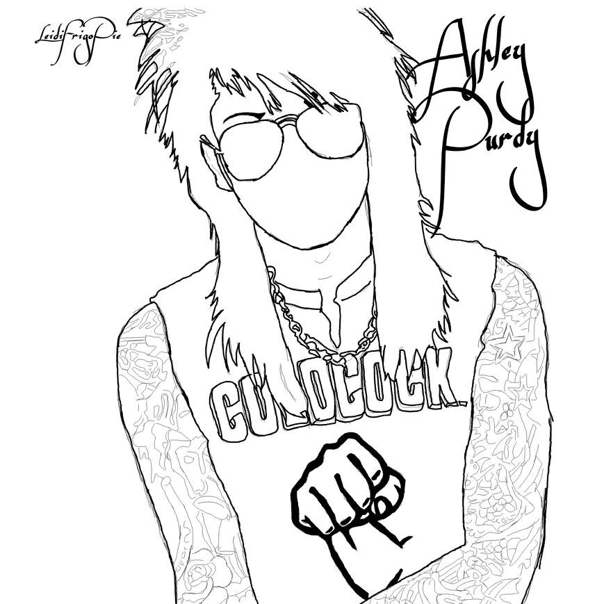 869x869 Fanart (Drawing) Of Ashley Purdy Of Black Veil Brides Black Veil