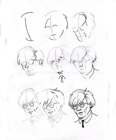 391x470 How To Draw Andy Warhol By Robert Hawkins On Artnet