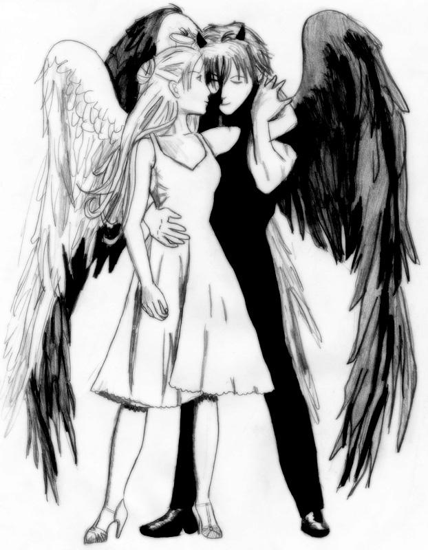 622x800 Angel And Devil By Kittyneko Kun