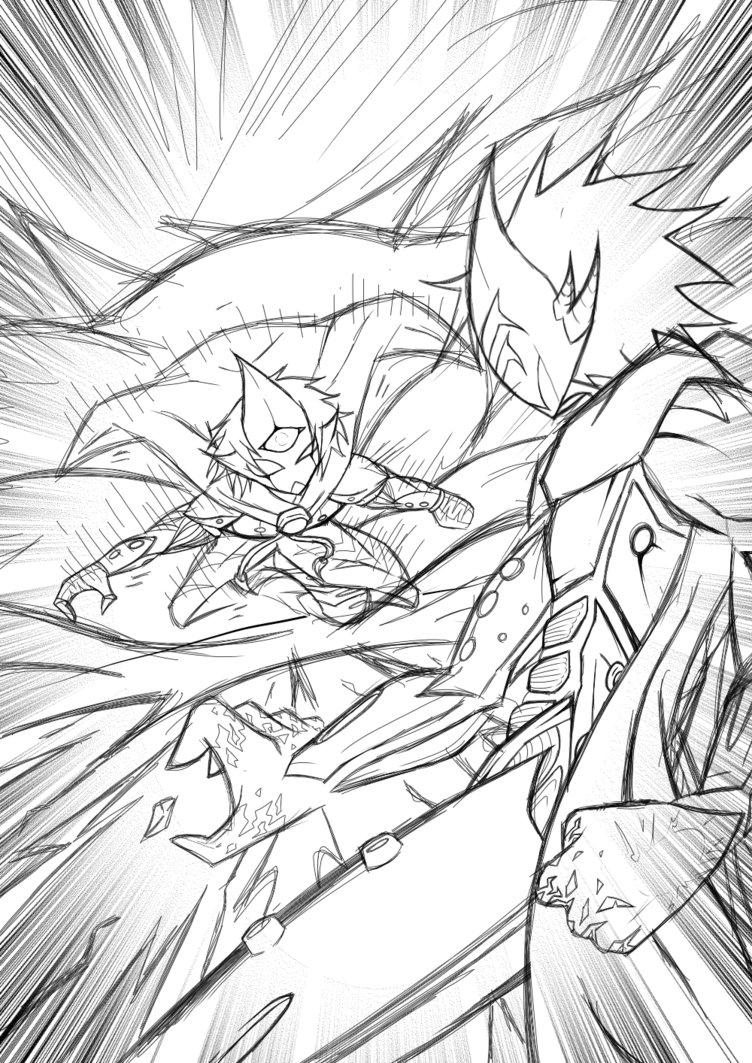 752x1063 Battle Of Gods Angel Vs Devil By Level06