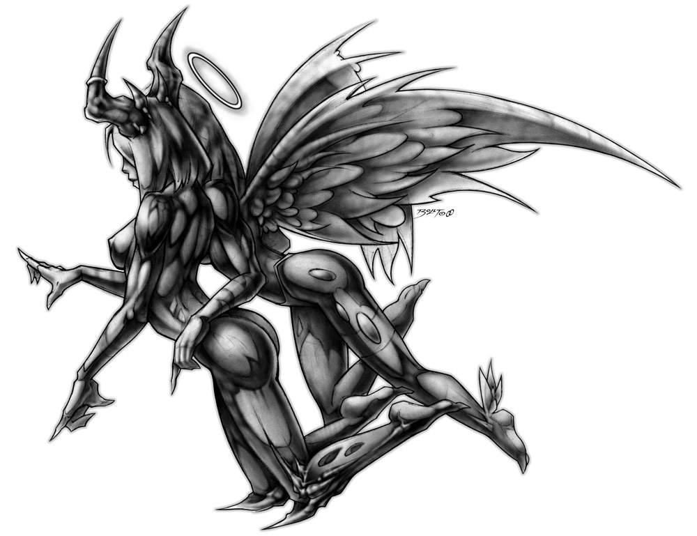 Angel and devil drawing at free for personal use angel and devil drawing of - Free evil angel pictures ...