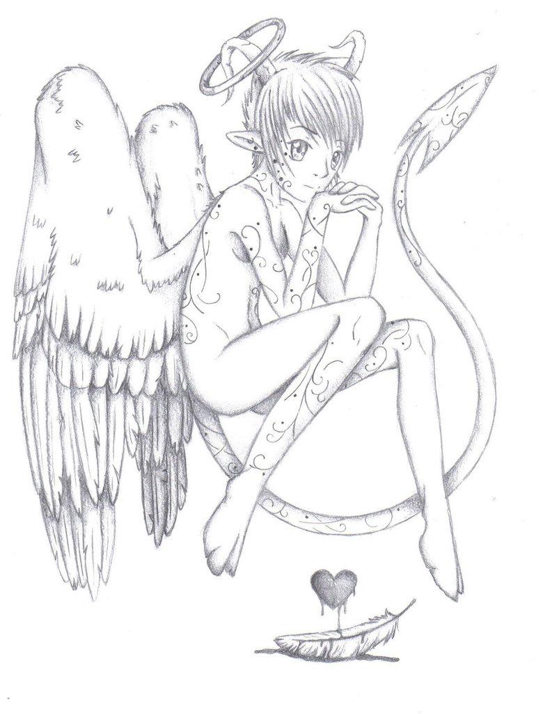 780x1025 Devil Angel By Ikairos